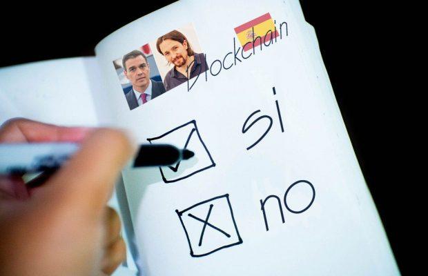 encuesta blockchain gobierno de España